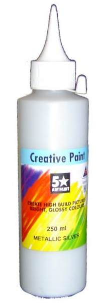 PVA CRAFT PAINT 250ML GOLD OR SILVER