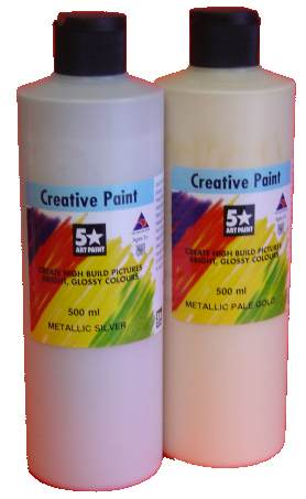 PVA CRAFT PAINT 500ML GOLD OR SILVER