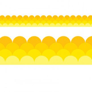 YELLOW OMBRE SCALLOP TRIMMER