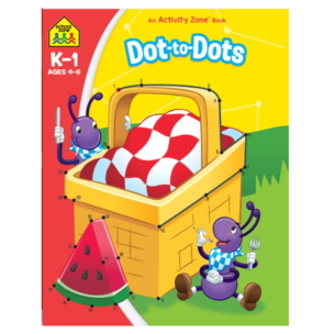 School Zone Activity Zone Dot To Dots Book – Ages 4-6
