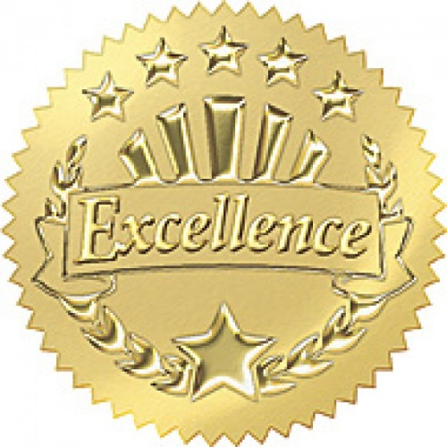 excellence gold seal sticker edsports the school shop